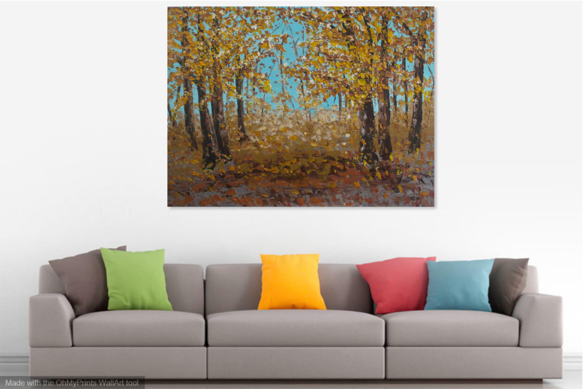 A Forest Scene An Abstract Landscape Fine Art Painting