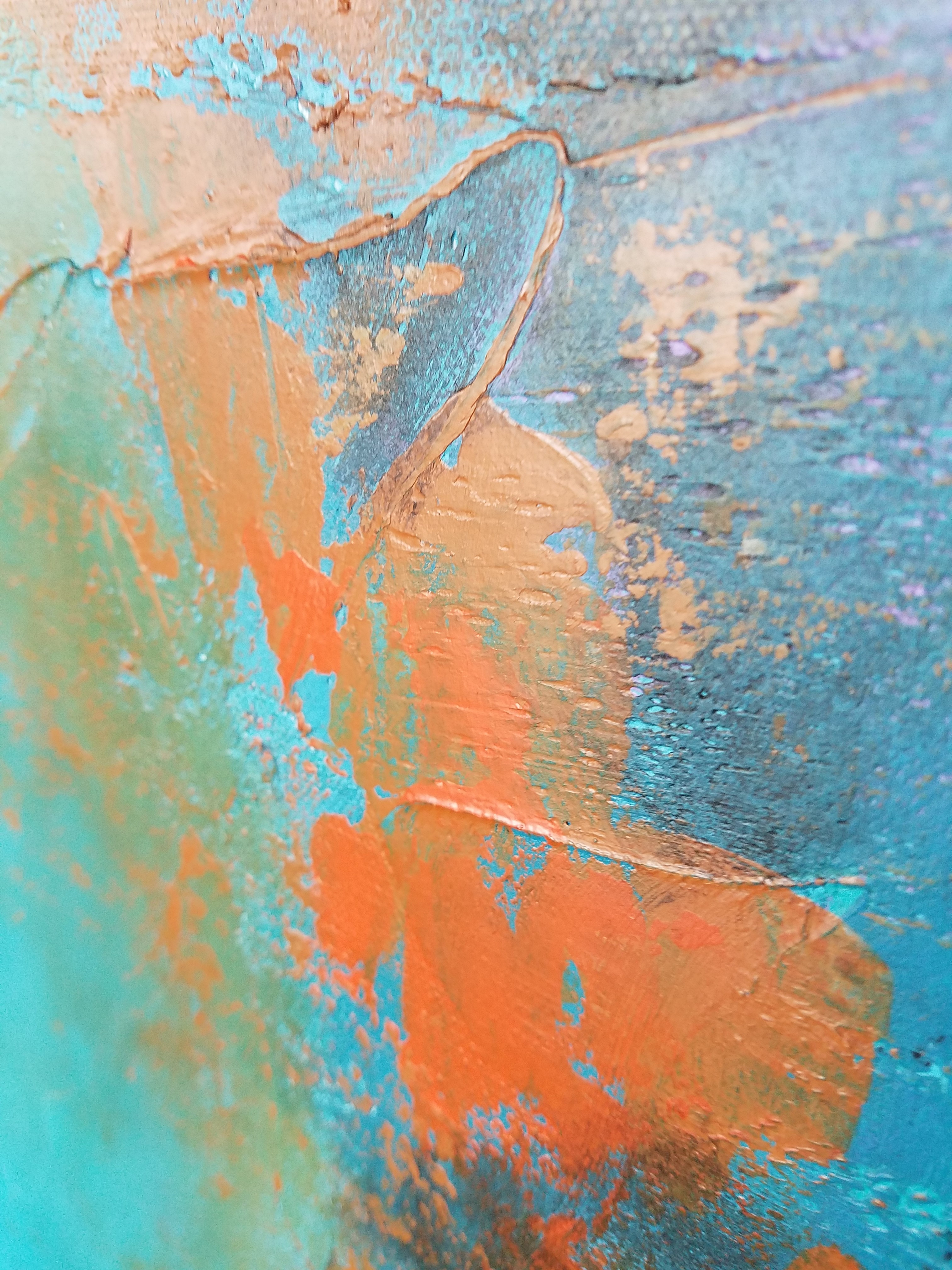 Centered Original Abstract Acrylic Modern Art By Amy