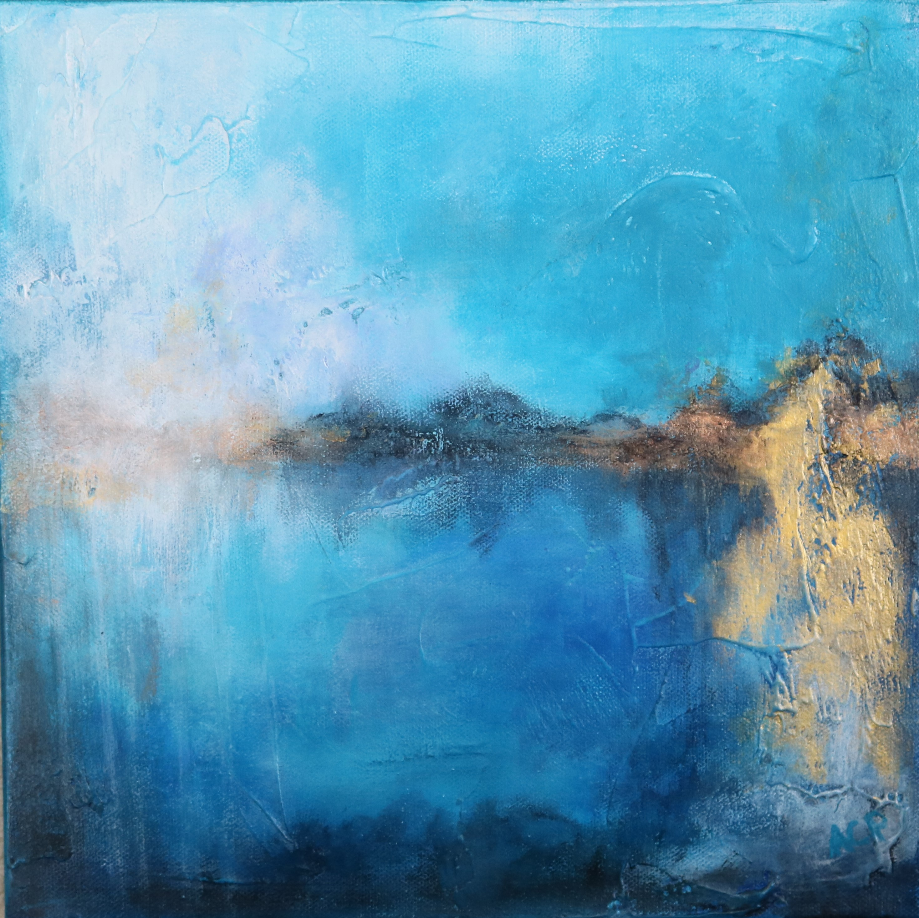 Flowing (SOLD)-modern abstract landscape art by Amy ...